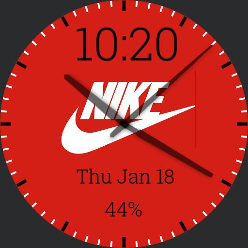 Red/White/Black Nike Watch Face