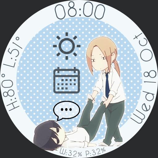Tanaka-kun Anime Watch Face