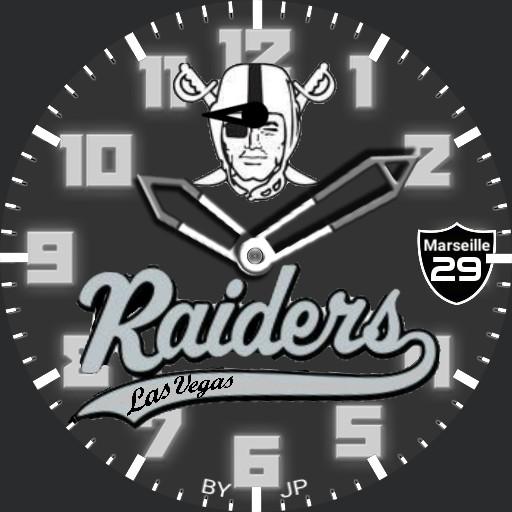 Las Vegas RAIDERS vintage watch face