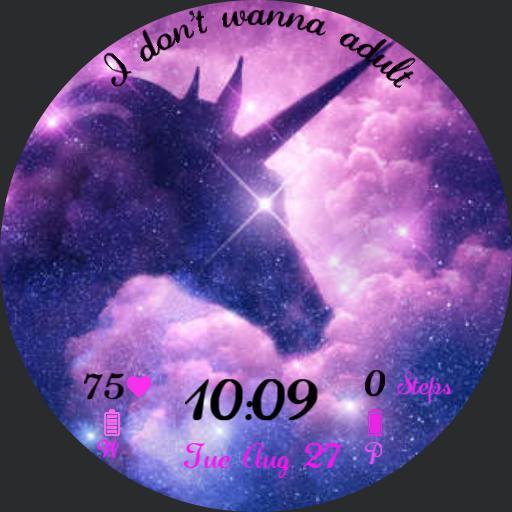 Galaxy Unicorn I dont wanna adult