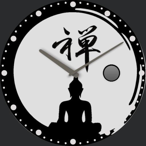 Zen watch with Moon