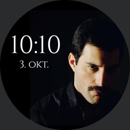 Freddie Mercury face in black background