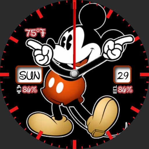 Mickey Watch - HR, Battery, Weather Copy