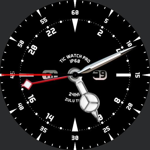 Sparkynet TicWatch Pro 24Hr Zulu Time