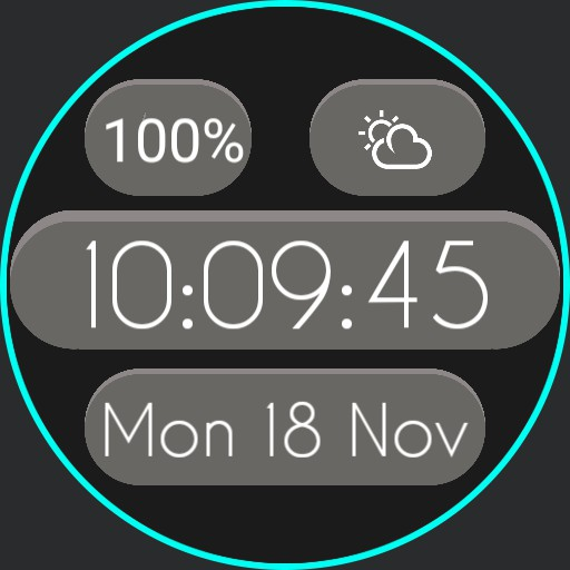 Simplistic Digital Watch Design
