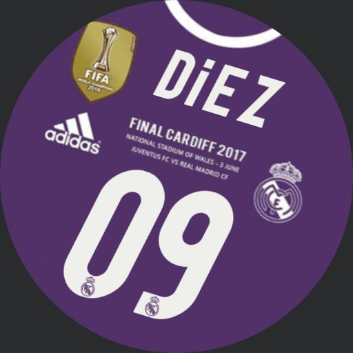 Real Madrid Purple White Hour letter. Final UCL 2017 Copy