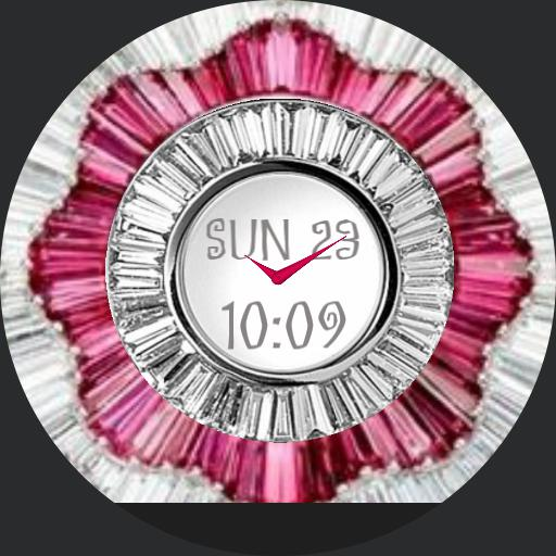 pink and silver flower diamond