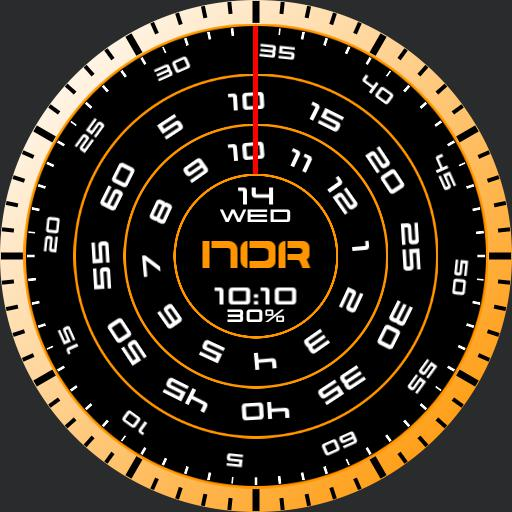 NOR_005_Analog_Rotary_Moving_Clock_Face_Ver.
