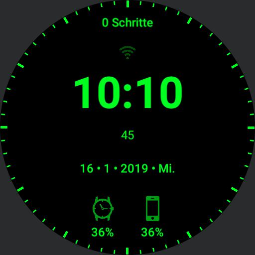 First simple black clock powersave