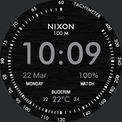 NIXON - Dark Mission Digital Lime W Steps