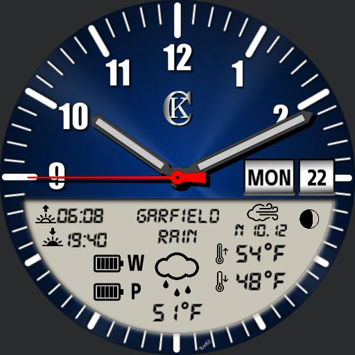 Digital inlay V2 weather info, moon phase,  day  date