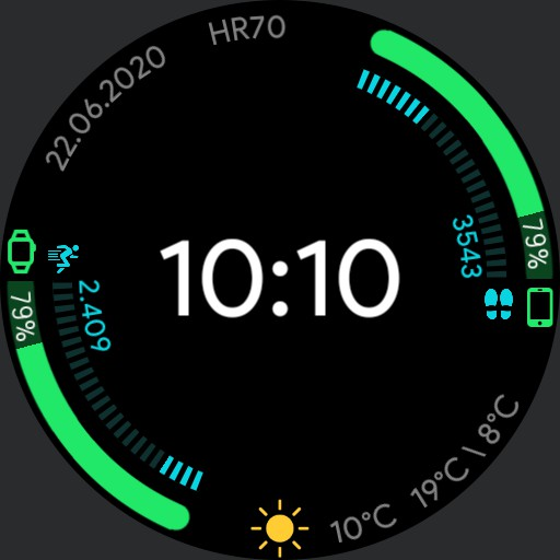 lees active 2 watch face