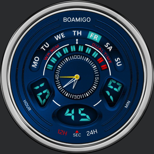 Boamigo Ref# F538 LED Digital Analog