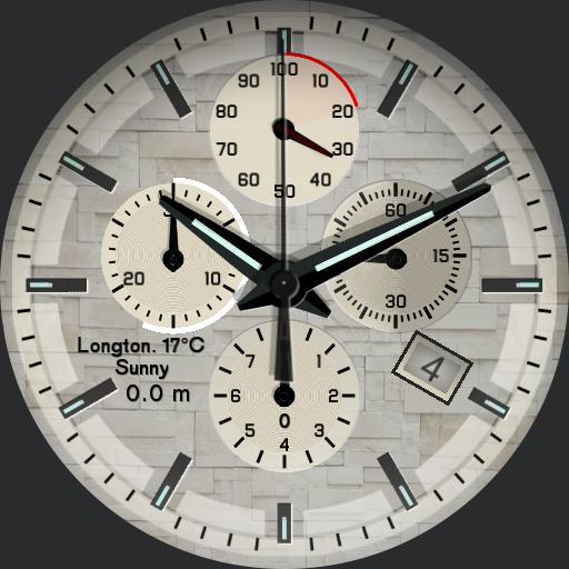 Chronograph Face Custom Colour