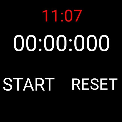 Simple stopwatch with current time