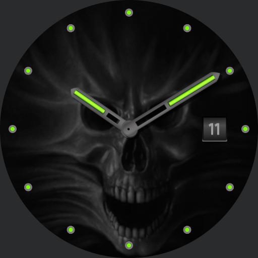 Scream Skull - green lume