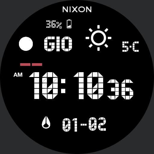 Nixon Super Unit White Custom Snow New
