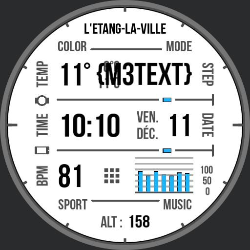 Benolf Ticwatch grid heart white modes