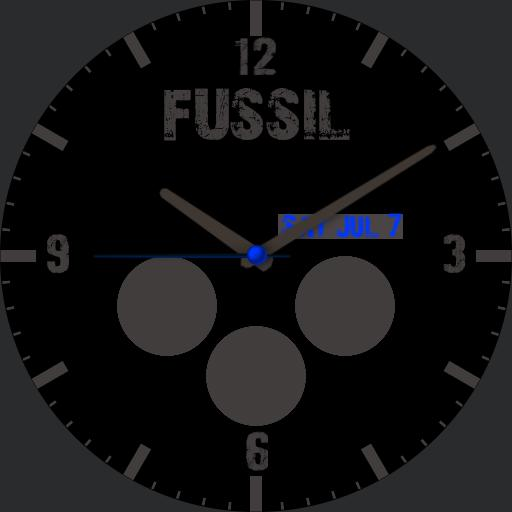 fussil watch blue