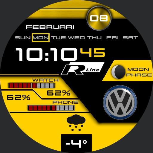 VW R-Line Yellow