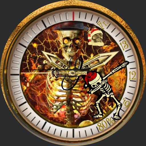 Skull Gold Christmas