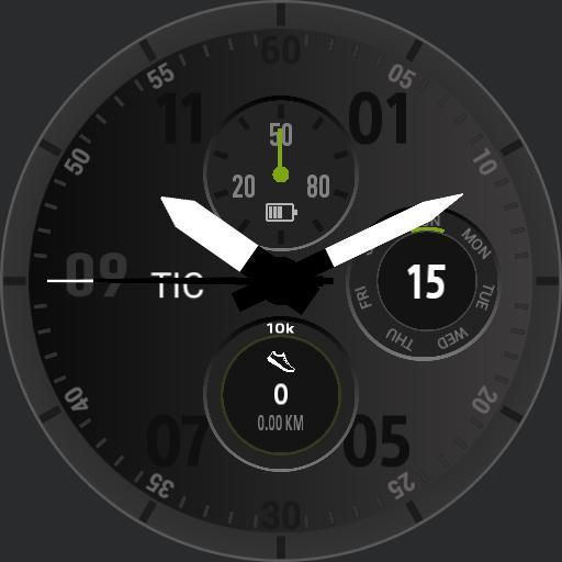 Ticwatch watchface replica by 7