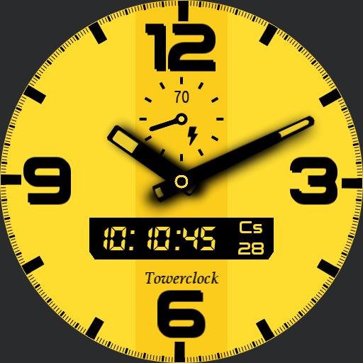 Towerclock yellow