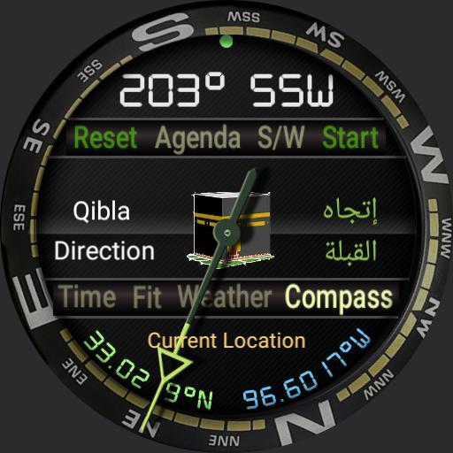12h GEAR SUUNTO Redesigned by Ramasoft Wdigital Athan Sound, Qibla Ver 2.0