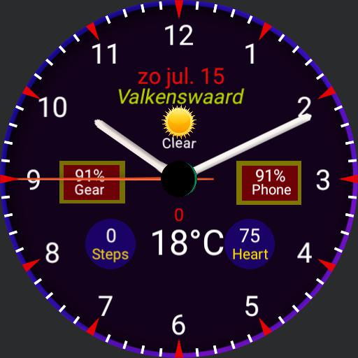 Watch with stopwatch weather location pressure heartrate steps Copy
