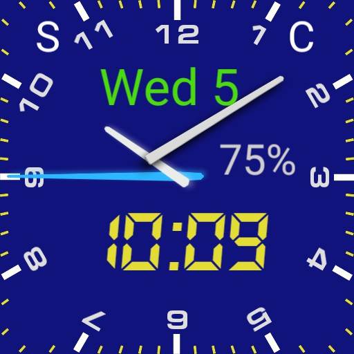 blue  Digital analog with numbers dj