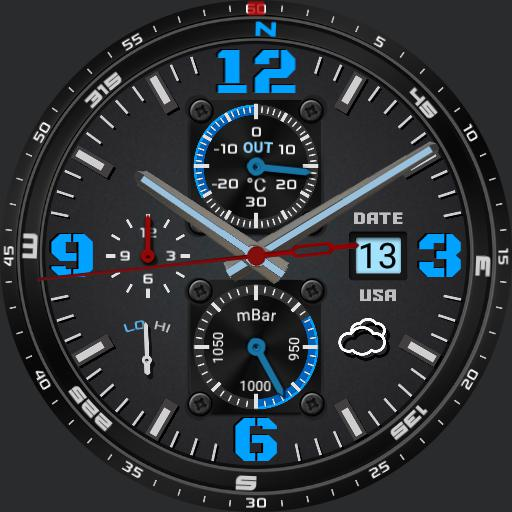 RUGGED Tickwatch2 blue mod HG7AN