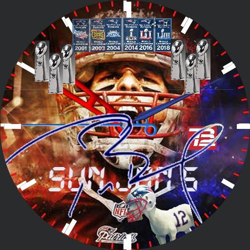 Tom Brady GOAT 6x Champ Watchface