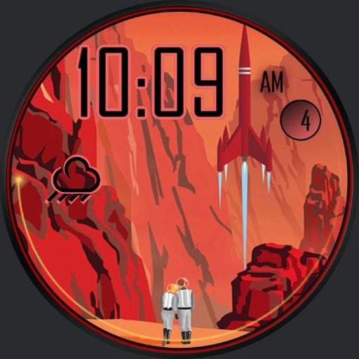 Red Planet Retro Vintage