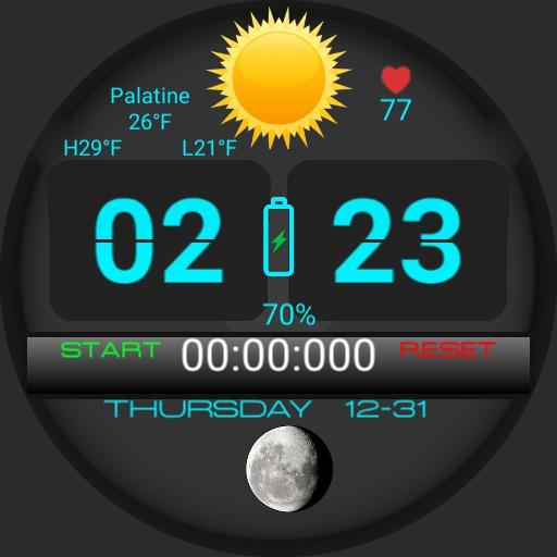 Flip Clock Stopwatch