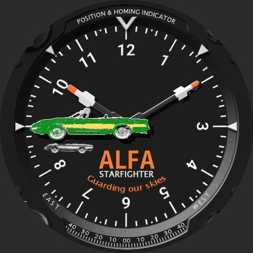F104 ALFA Starfighter green