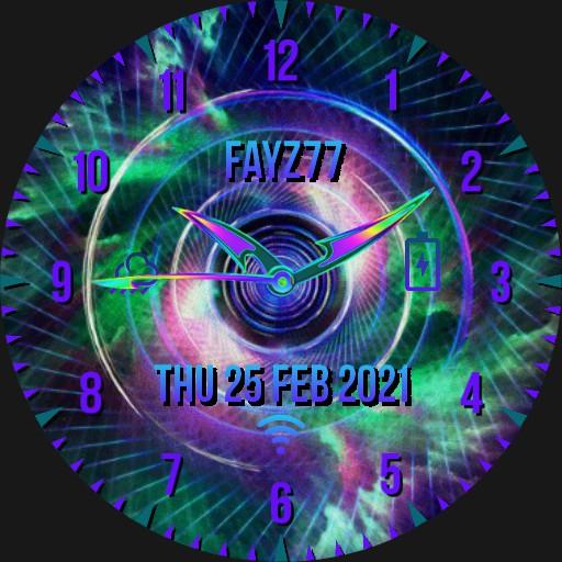 Neon multicolour watch face