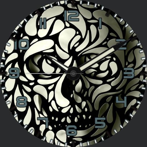 Black/White Skull