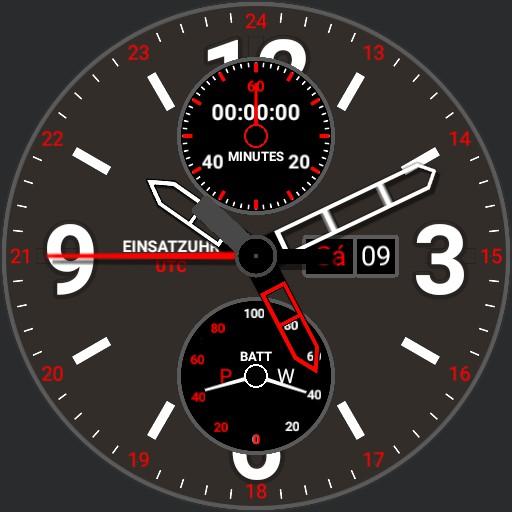 Einsatzuhr 6 Halb Stunde