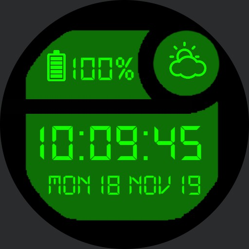 Classic Digital Watch Green