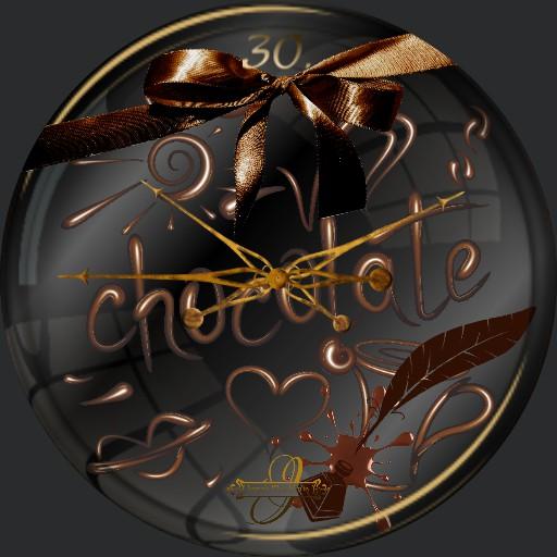 Schokolade Schrift