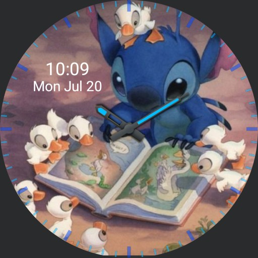 Stitch Reading to Ducklings