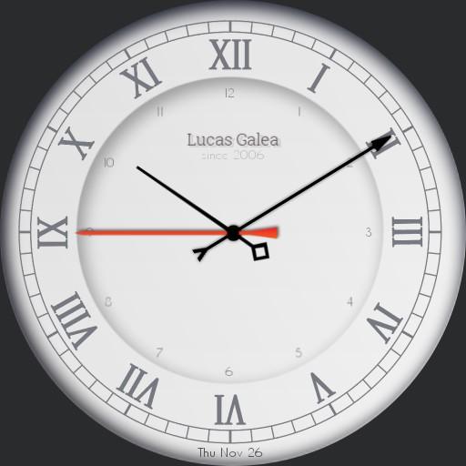 Lucas classic white watch
