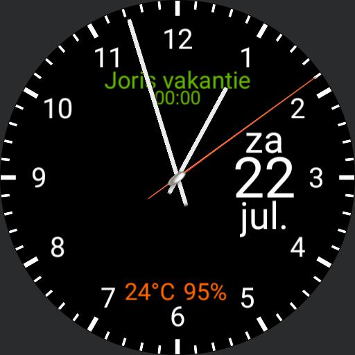 analog watch AOD zonder agenda