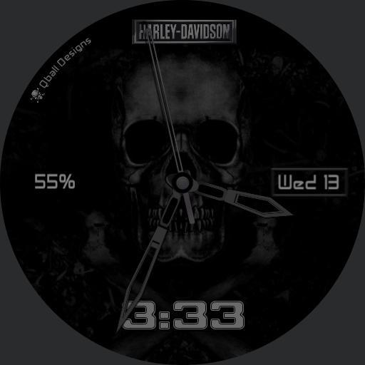 Harley Davidson w/ Skull
