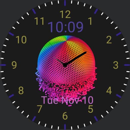 Rainbow sphere animation Copy