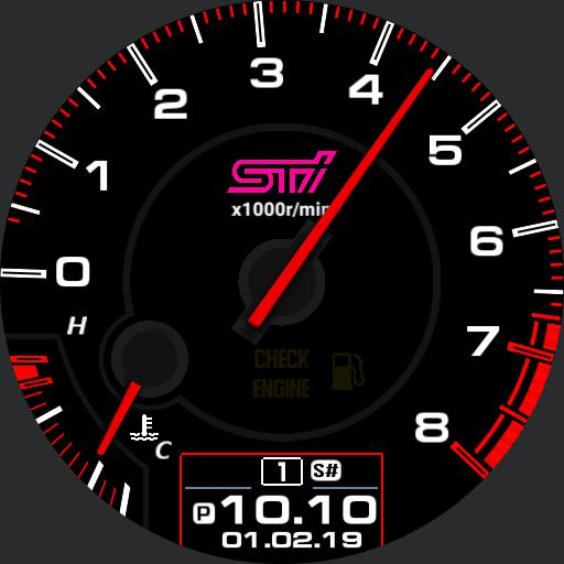NO STEP COUNTER - STi / WRX gauge