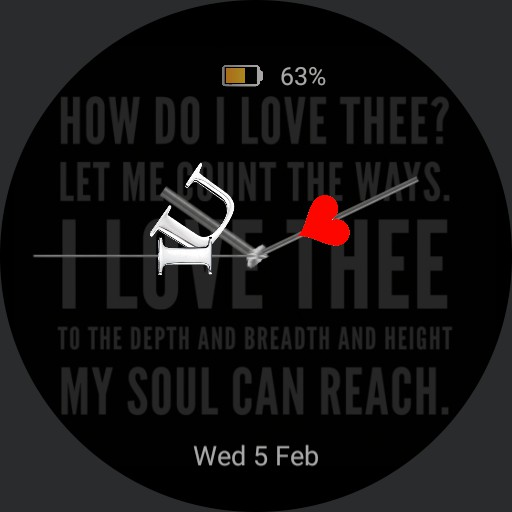 "Valentines Day ""How do I love thee"" Dark version"