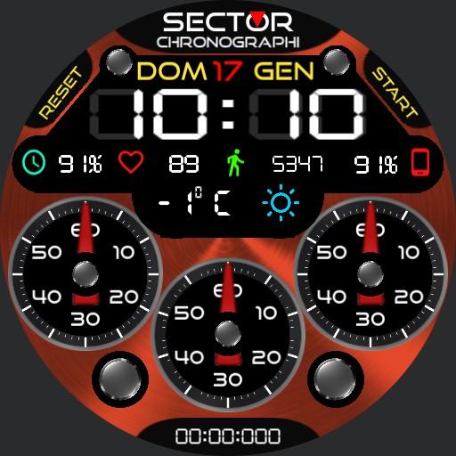 Sector verso. 2 Crono multicolor digital