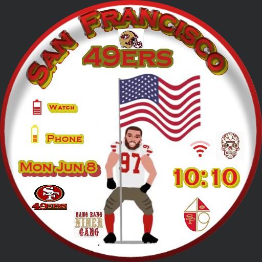 Nick Bosa 49ers American Flag