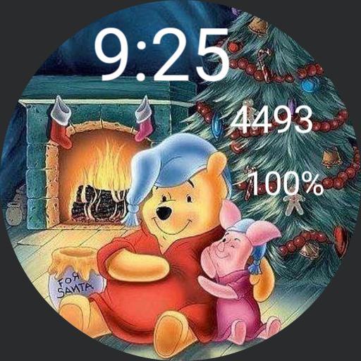 Pooh piglet Christmas digital